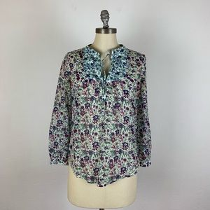 J. Crew Liberty Peasant Top in Molly Floral